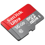 Genuine Sandisk Ultra 16GB Micro SDHC Memory Card With Adapter: Class 10