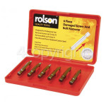 Genuine Rolson 6 Piece Screw & Bolt Remover