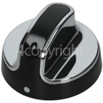 Genuine Stoves Hob Control Knob - Black/Chrome