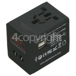 4ourhouse Approved part Worldwide Travel Adapter & USB Charger