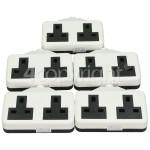 Wellco Bulk 13A White Twin Trailing Socket Rubberised (Box Of 5)
