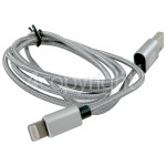 4ourhouse Approved part 1.0m Lightning Cable - Grey