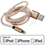 4ourhouse Approved part 1.0m Lightning Cable - Rose Gold