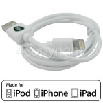4ourhouse Approved part 1.0m Lightning Cable - White