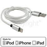 4ourhouse Approved part 1.0m Lightning Cable - Silver