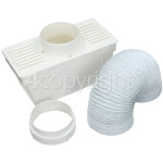 "4ourhouse Approved part Universal Vent Kit Condenser Box (2M. Length By 4"" Hose)"