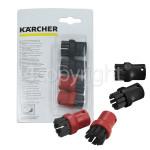 Genuine Karcher Round Brush Set (Nylon) - Pack Of 4