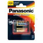 Genuine Panasonic 2CR5M Photo Lithium Batteries