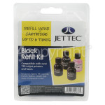 Genuine Jettec Black Ink Cartridge Refill Kit