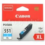 Genuine Canon Genuine CLI-551CXL High Capacity Cyan Ink Cartridge - 6444B001