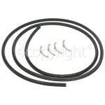 4ourhouse Approved part Universal 4 Sided Oven Door Seal - 2m (For Round Corners)