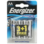 Genuine Energizer Ultimate Lithium AA Battery - Pack Of 3 & 1 Free