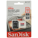 Genuine Sandisk Ultra 32GB Micro SDHC Memory Card With Adapter: Class 10
