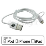 4ourhouse Approved part 1.0m Lightning & Micro USB Cable - White