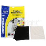 4ourhouse Approved part Cooker Hood Grease Paper & Carbon Filter Kit : Grease Filter 1140x470mm / Charcoal Filter 570x470mm ; CUT TO SIZE
