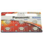 Genuine Panasonic CR2032 Lithium Coin Batteries (Pack Of 6)