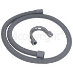 4ourhouse Approved part Universal 1.5m Drain Hose Straight 22mm / 29mm Internal Dia.S'