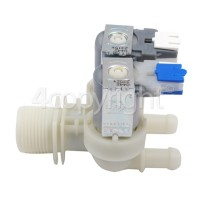 Hoover Cold Water Double Inlet Solenoid Valve : 180Deg. With Protected (Push) Connectors