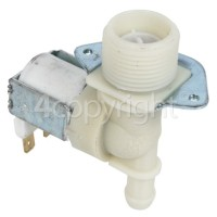 Hoover Hot Water Single Solenoid Inlet Valve ; 180deg. 12 Bore Outlet