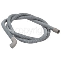 Hoover 2.3mtr. Drain Hose 19mm End With Right Angle End 22mm, Internal Dia.s'
