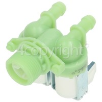 Hoover MK 7165-84 Cold Water Double Inlet Solenoid Valve : 180Deg. With 12 Bore Outlets & Protected (push) Connector Pins