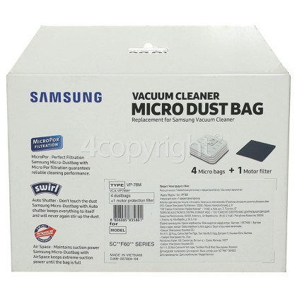 Samsung F600 Dust Bag VCA-VP78MF