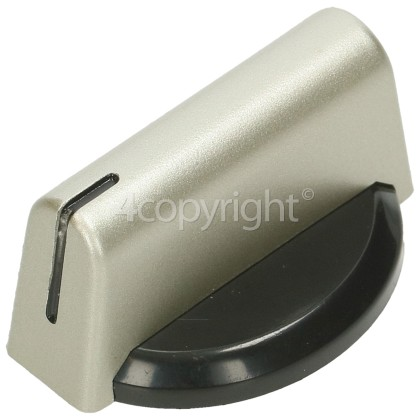 Baumatic Hob Control Knob - Black / Silver