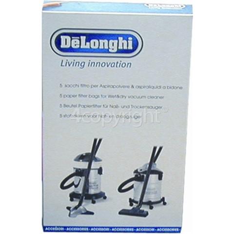 Delonghi Paper Bag & Filters (Pack Of 5)