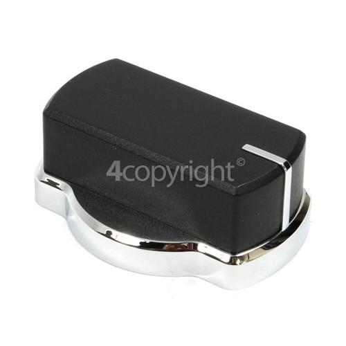 Belling Gas Hob Control Knob - Chrome/Black