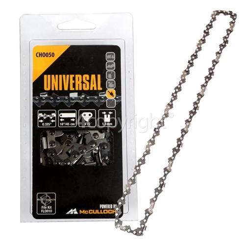 """McCulloch CHO050 45cm (18"""") 72 Drive Link Chainsaw Chain"""