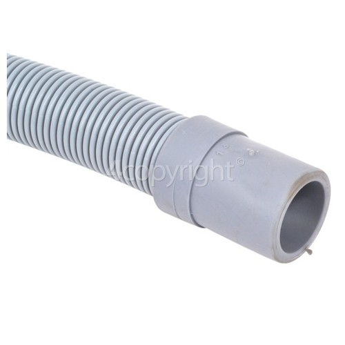 Caple QDW120 Universal 1.5m Drain Hose (Straight 21mm To Right Angle End 22mm Internal Dia.s'