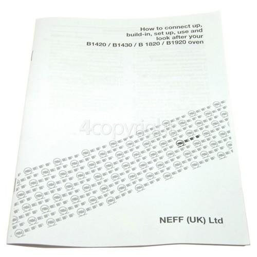 Neff Instruction Manual