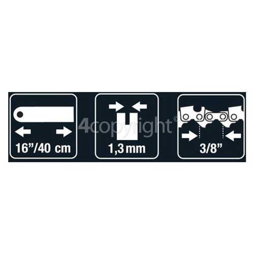 "Flymo BRO037 40cm (16"") 57 Drive Link Chainsaw Bar"