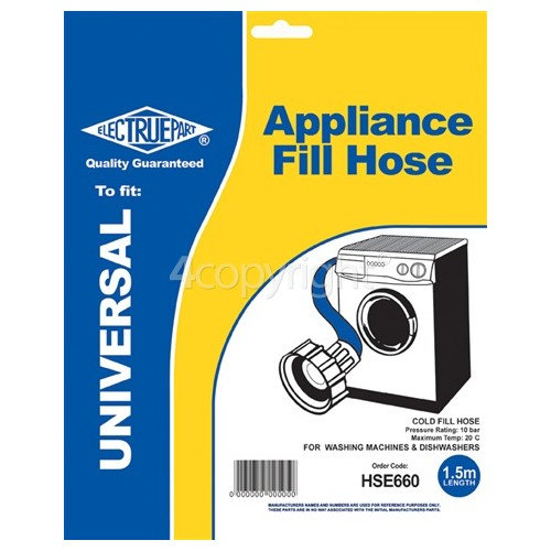 Caple Universal 1.5m Cold Fill Hose