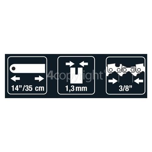 "McCulloch BRO021 35.56cm (14"") 50 Drive Link Chainsaw Bar"