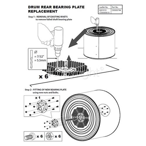 Indesit Shaft Kit For Riveted Drums