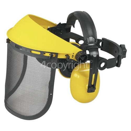 Universal Powered By McCulloch PRO002 Safety Plastic Mesh Visor / Ear Muffs
