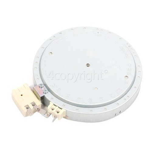 DeDietrich Ceramic Hotplate Element Single - Front Right Hand (see Alternative) : 60.25172.001