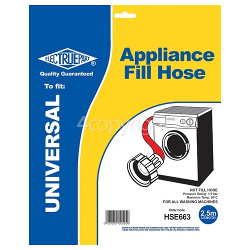 Universal 2.5m Hot Fill Inlet Hose