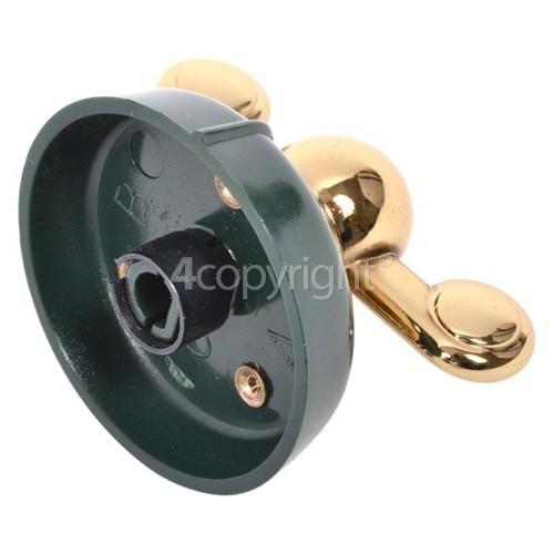 Genuine Indesit Creda Dark Green /& Gold Cooker Control Knob