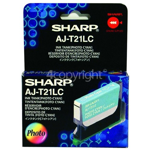 Sharp Genuine AJT21LC Cyan Ink Cartridge