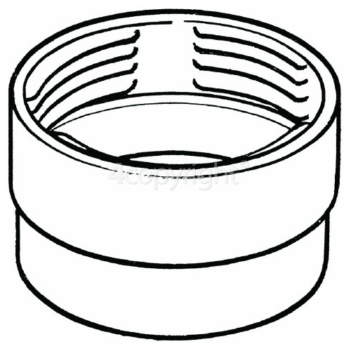 """Female Threaded Hose Vent Ducting Connector - 3. 9""""/100MM"""