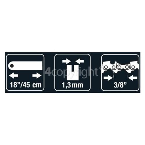 "Flymo BRO047 45cm (18"") 60 Drive Link Chainsaw Bar"