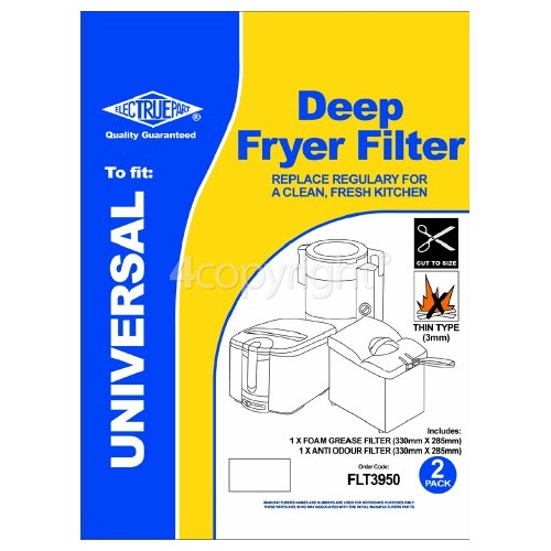 Universal Deep Fat Fryer Grease Filter Set : ( Cut To Size ) 330x285mm