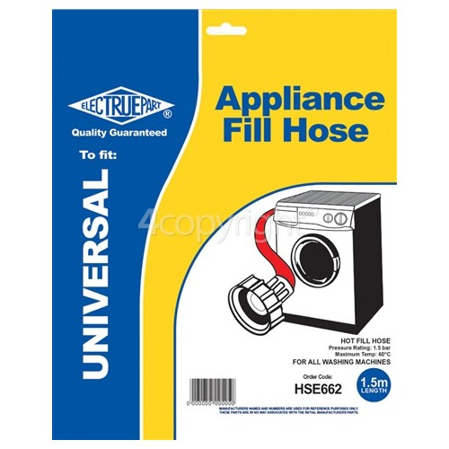 Caple QWD1 Universal 1.5m Hot Fill Inlet Hose