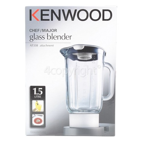 Kenwood AT358 Glass Liquidiser Complete - Black Trim