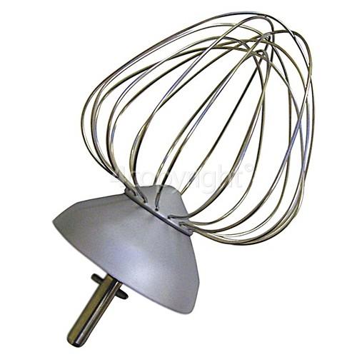 Kenwood Chef Aluminium 9 Wire Balloon Whisk - New Circlip Shaft