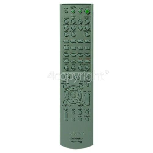 Sony DAVSB100 Remote Control