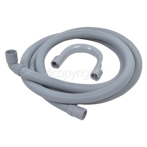 Caple Universal 2. 5M Drain Hose 19mm End With Right Angle End 22mm, Internal Dia.s'