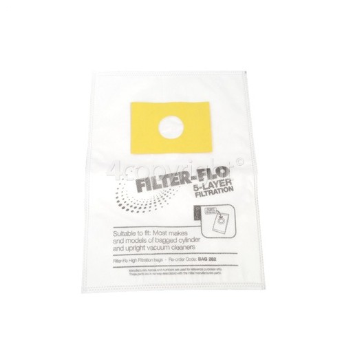Sharp Filter-Flo Upright/Cylinder Vacuum Adaptor Bag (Pack Of 5)